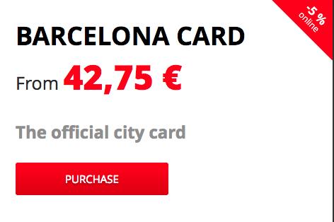 карта намаления Барселона